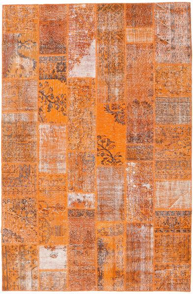 Patchwork Tappeto 199X303 Moderno Fatto A Mano Arancione/Marrone Chiaro (Lana, Turchia)