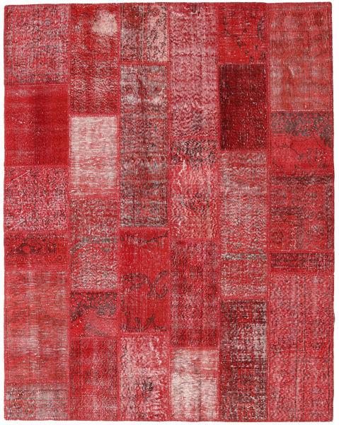 Patchwork Rug 203X260 Authentic  Modern Handknotted Dark Red/Crimson Red (Wool, Turkey)