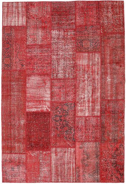 Patchwork Alfombra 203X301 Moderna Hecha A Mano Rojo Oscuro/Roja (Lana, Turquía)