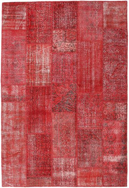 パッチワーク 絨毯 202X299 モダン 手織り 錆色/深紅色の (ウール, トルコ)