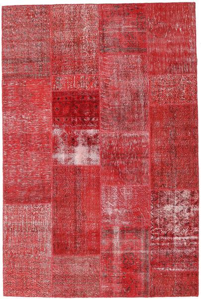 Patchwork Matto 202X303 Moderni Käsinsolmittu Punainen/Ruoste (Villa, Turkki)