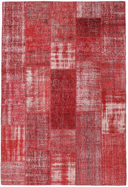 Patchwork Rug 202X299 Authentic  Modern Handknotted Crimson Red/Purple (Wool, Turkey)