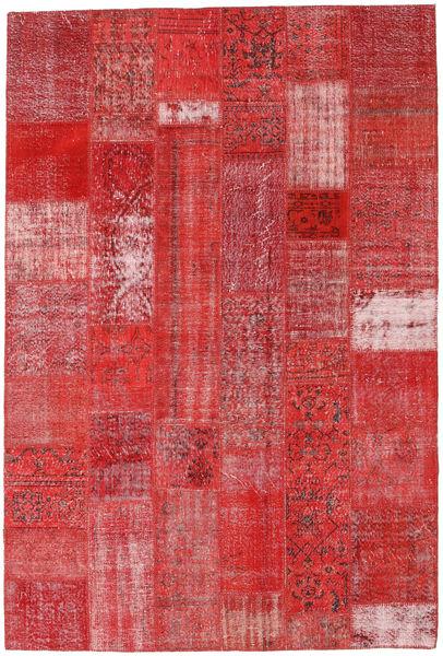 Patchwork Matto 203X300 Moderni Käsinsolmittu Tummanpunainen/Ruoste (Villa, Turkki)