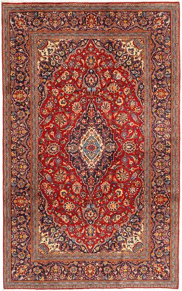 Keshan Rug 200X318 Authentic  Oriental Handknotted Dark Red/Dark Purple (Wool, Persia/Iran)