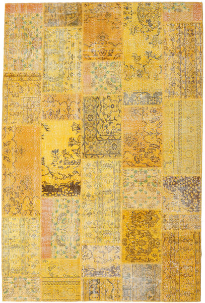 Patchwork Rug 202X303 Authentic  Modern Handknotted Yellow/Light Brown (Wool, Turkey)
