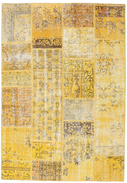 Patchwork Rug 160X230 Authentic  Modern Handknotted Yellow/Light Brown (Wool, Turkey)