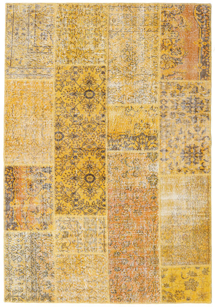 Patchwork Rug 161X233 Authentic  Modern Handknotted Light Brown/Dark Beige (Wool, Turkey)