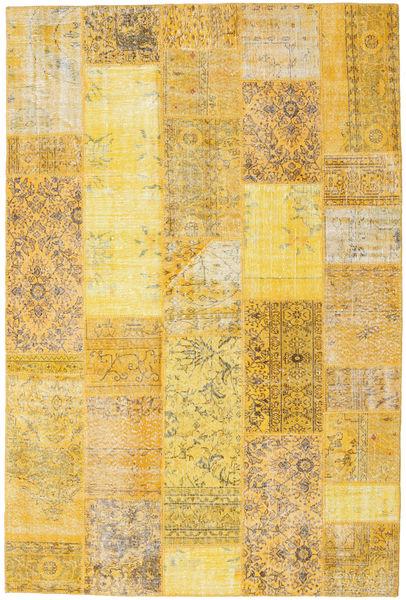 パッチワーク 絨毯 202X302 モダン 手織り 黄色/薄茶色 (ウール, トルコ)