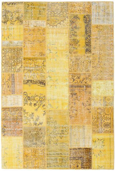 Patchwork Tapete 202X302 Moderno Feito A Mão Amarelo/Castanho Claro (Lã, Turquia)