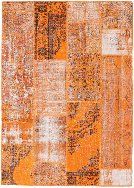 Patchwork Rug 161X226 Authentic  Modern Handknotted Light Brown/Orange (Wool, Turkey)