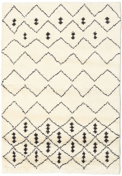 Berber Indo - Off-White/Black Rug 120X180 Authentic  Modern Handknotted Beige (Wool, India)