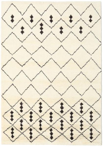Berber Indisk - Off-Vit / Svart matta CVD17646