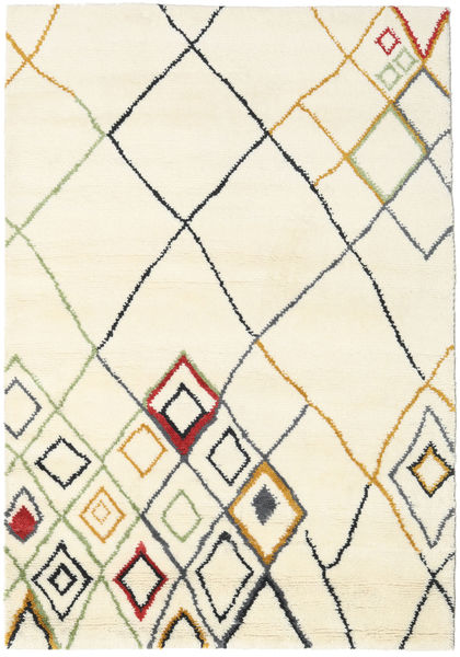 Berber Indo - Off-White/Multi Rug 160X230 Authentic  Modern Handknotted Beige (Wool, India)