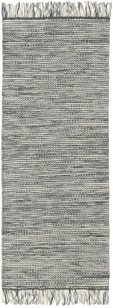 Vilma - Grey Mix Rug 80X300 Authentic  Modern Handwoven Hallway Runner  Dark Grey/Light Grey/Beige (Wool, India)