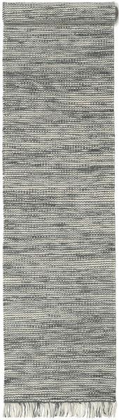 Vilma - Cinzento Mix Tapete 80X350 Moderno Tecidos À Mão Tapete Passadeira Cinza Escuro/Cinzento Claro (Lã, Índia)