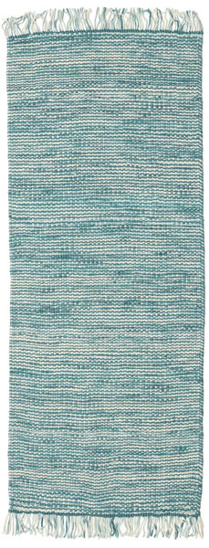 Vilma - Turkoois Mix Tapijt 80X300 Echt Modern Handgeweven Tapijtloper Wit/Creme/Turquoise Blauw/Turquoise Blauw (Wol, India)