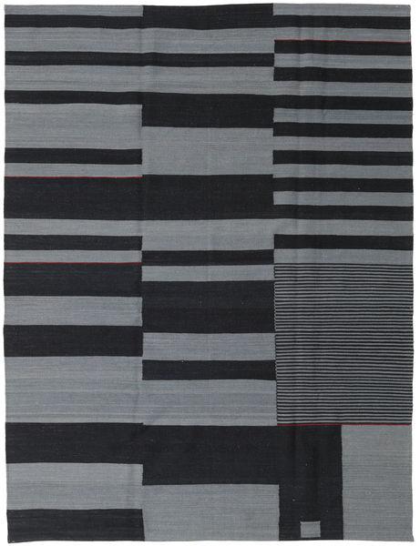 Kilim Modern Rug 180X236 Authentic  Modern Handknotted Dark Grey/Light Grey (Wool, India)