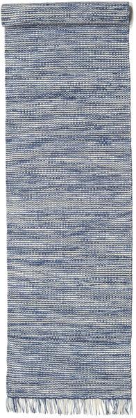 Vilma - Blue Mix Rug 80X350 Authentic  Modern Handwoven Hallway Runner  White/Creme/Blue (Wool, India)