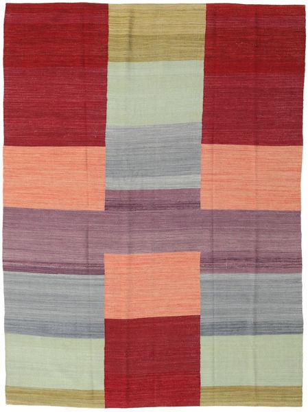 Kelim Moderni Matto 180X237 Moderni Käsinsolmittu Tummanpunainen/Violetti (Villa, Intia)