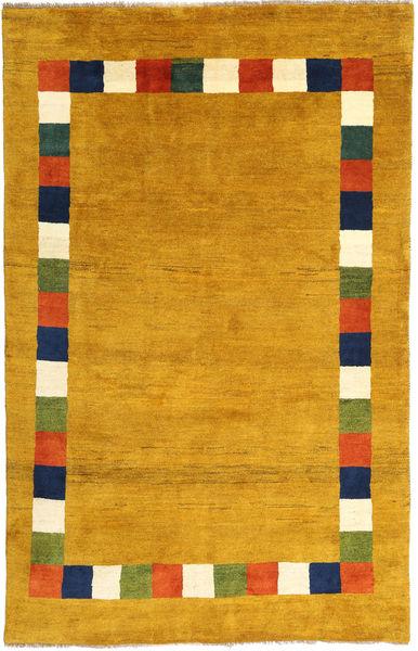 Gabbeh (Persja) Dywan 193X297 Nowoczesny Tkany Ręcznie Jasnobrązowy/Żółty (Wełna, Persja/Iran)