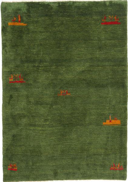 Gabbeh Persia Matto 165X232 Moderni Käsinsolmittu Tummanvihreä/Oliivinvihreä (Villa, Persia/Iran)