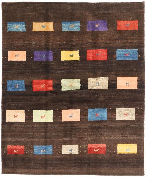 Gabbeh Persia Teppe 155X193 Ekte Moderne Håndknyttet Mørk Brun (Ull, Persia/Iran)
