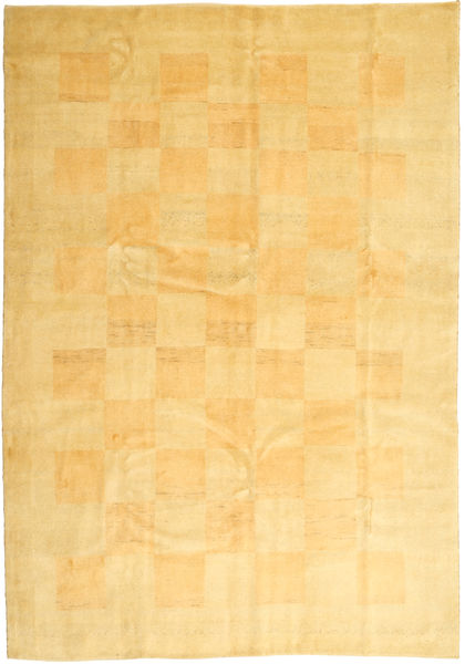 Gabbeh Persia Rug 206X295 Authentic  Modern Handknotted Yellow/Light Brown/Dark Beige (Wool, Persia/Iran)