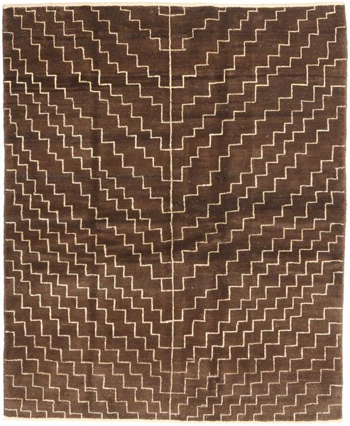 Gabbeh Perzsa Szőnyeg 151X186 Modern Csomózású Sötétbarna/Barna (Gyapjú, Perzsia/Irán)