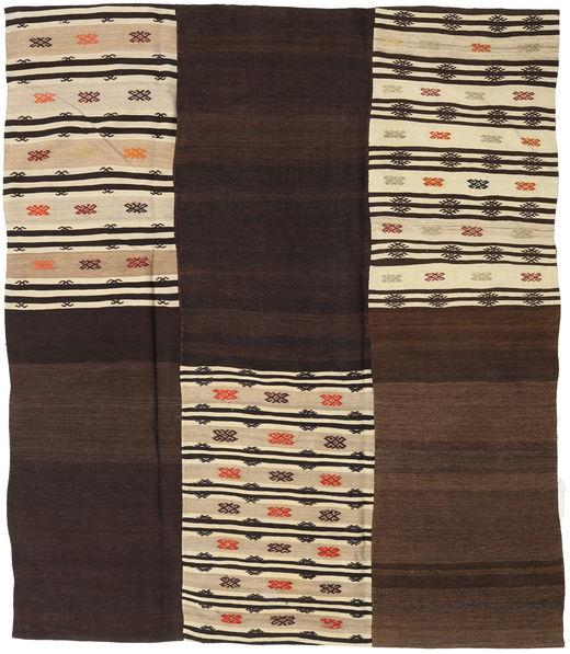 Kilim Patchwork Rug 217X249 Authentic  Modern Handwoven Dark Red/Dark Brown (Wool, Turkey)