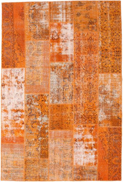 Patchwork Teppich  203X303 Echter Moderner Handgeknüpfter Orange/Hellbraun (Wolle, Türkei)