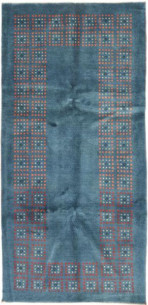Gabbeh Perzsa Szőnyeg 100X207 Modern Csomózású Kék/Sötétkék (Gyapjú, Perzsia/Irán)