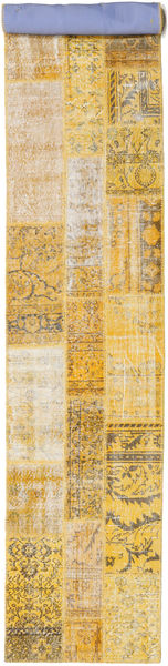 Patchwork Rug 80X502 Authentic  Modern Handknotted Hallway Runner  Light Brown/Dark Beige (Wool, Turkey)