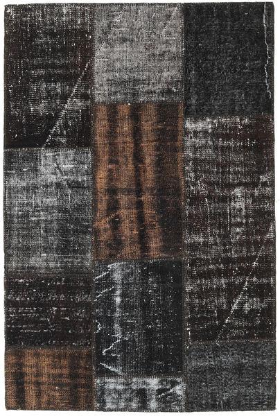 Patchwork Szőnyeg 121X183 Modern Csomózású Fekete/Sötétszürke (Gyapjú, Törökország)
