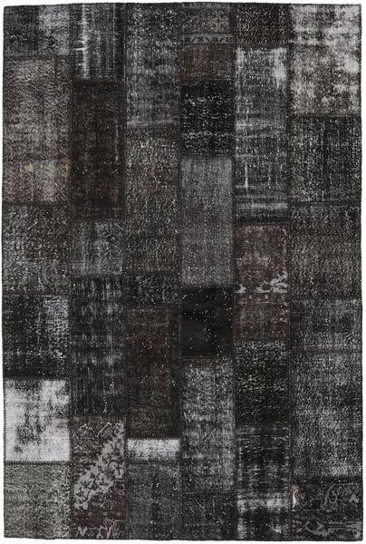 Patchwork Rug 201X303 Authentic  Modern Handknotted Black/Dark Grey (Wool, Turkey)
