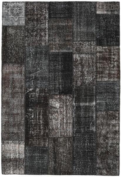 Patchwork Rug 203X298 Authentic  Modern Handknotted Dark Grey/Black (Wool, Turkey)