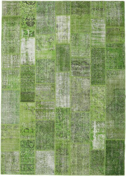 Patchwork Rug 251X351 Authentic  Modern Handknotted Dark Green/Light Grey Large (Wool, Turkey)
