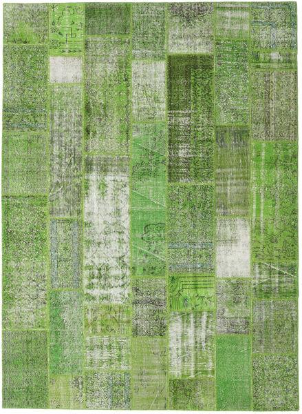 Patchwork Matto 254X348 Moderni Käsinsolmittu Pastellinvihreä/Vaaleanvihreä Isot (Villa, Turkki)
