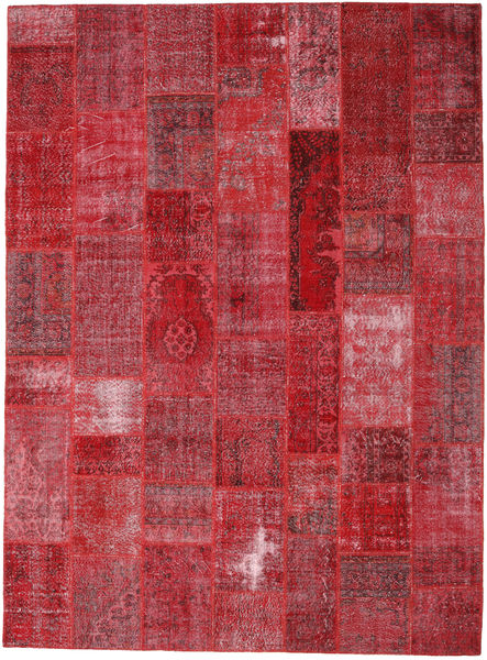 Patchwork Rug 272X370 Authentic  Modern Handknotted Dark Red/Crimson Red Large (Wool, Turkey)
