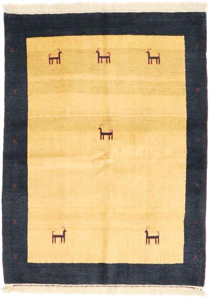 Gabbeh Perzsa Szőnyeg 111X153 Modern Csomózású Sötétkék/Narancssárga (Gyapjú, Perzsia/Irán)