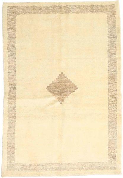Gabbeh (Persja) Dywan 102X151 Nowoczesny Tkany Ręcznie Beżowy/Ciemnobeżowy (Wełna, Persja/Iran)