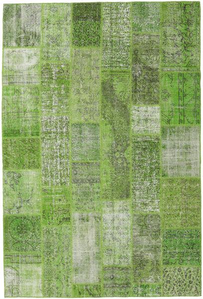 Patchwork Rug 201X300 Authentic  Modern Handknotted Light Green/Dark Green (Wool, Turkey)