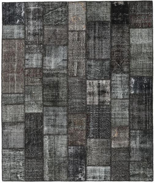 Patchwork Tapis 252X300 Moderne Fait Main Gris Foncé/Noir Grand (Laine, Turquie)