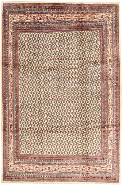 Sarough Mir Matto 214X323 Itämainen Käsinsolmittu Vaaleanruskea/Ruskea (Villa, Persia/Iran)