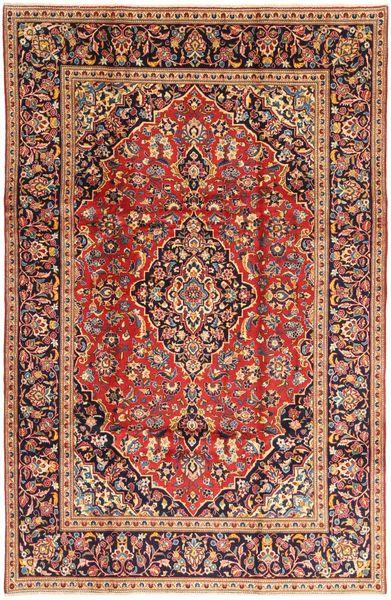 Keshan Matto 194X304 Itämainen Käsinsolmittu Tummanpunainen/Ruskea (Villa, Persia/Iran)