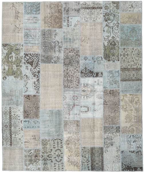 Patchwork Rug 250X301 Authentic  Modern Handknotted Light Grey Large (Wool, Turkey)