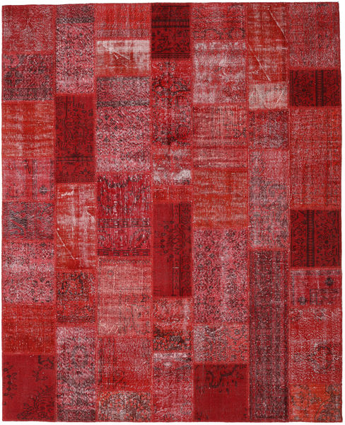 Patchwork Rug 250X308 Authentic  Modern Handknotted Dark Red/Crimson Red Large (Wool, Turkey)