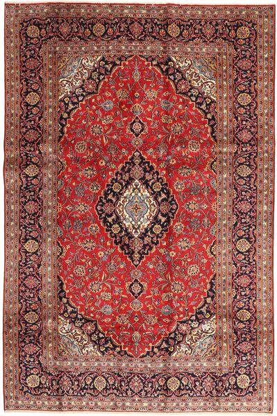 Keshan Matta 195X295 Äkta Orientalisk Handknuten Mörkröd/Roströd (Ull, Persien/Iran)