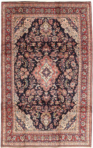 Hamadan Shahrbaf Matto 200X315 Itämainen Käsinsolmittu Tummanpunainen/Vaaleanruskea (Villa, Persia/Iran)