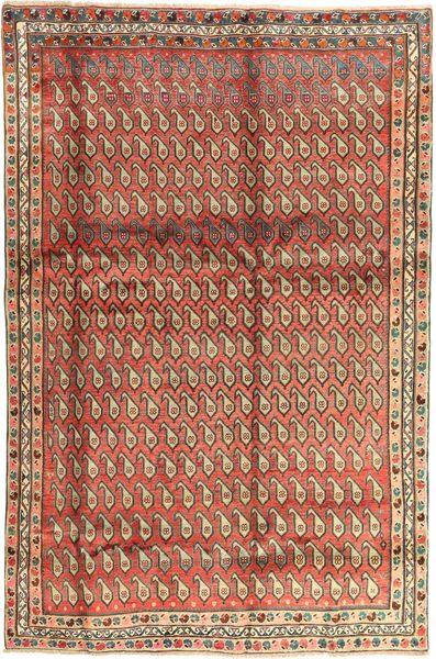 Afshar Matta 195X295 Äkta Orientalisk Handknuten Brun/Ljusbrun (Ull, Persien/Iran)