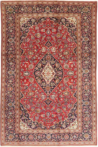 Keshan Matto 200X315 Itämainen Käsinsolmittu Tummanpunainen/Tummanruskea (Villa, Persia/Iran)
